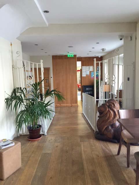 Restaurant Hallway