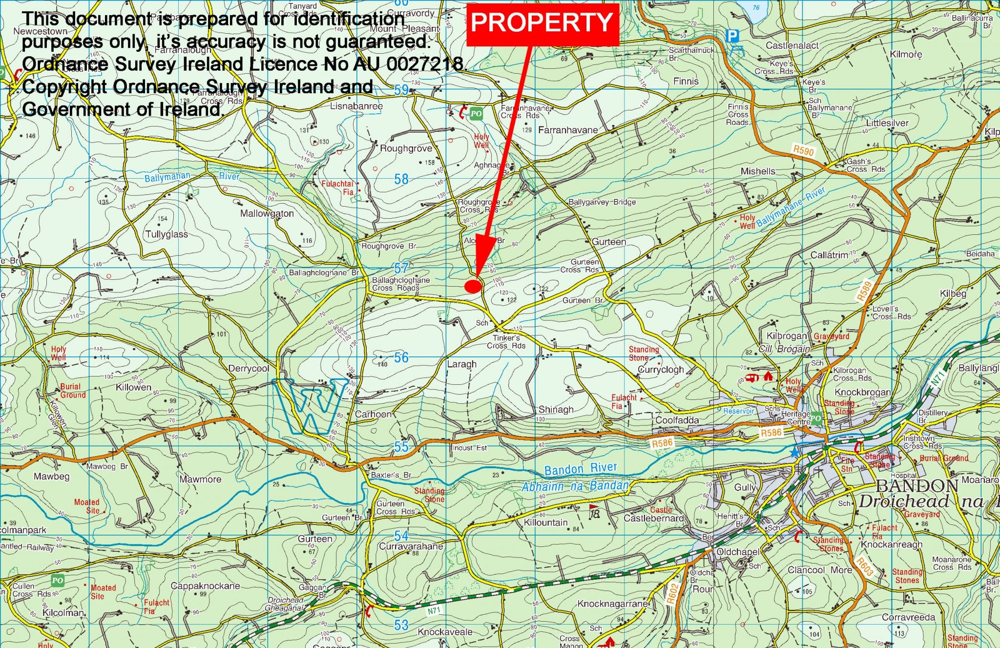 8. Location Map - Laragh, Bandon