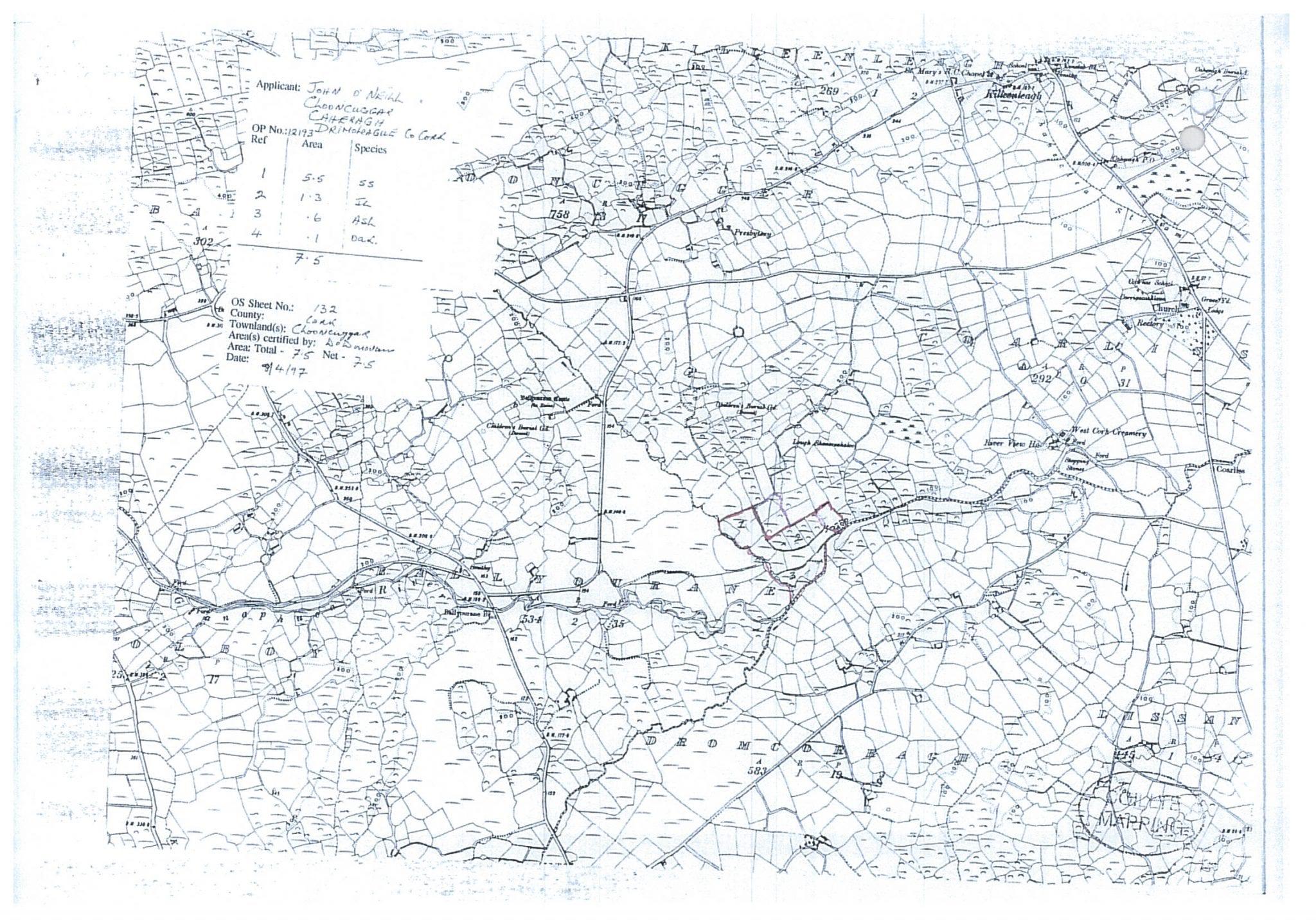 DOC520 MAP SPECIES