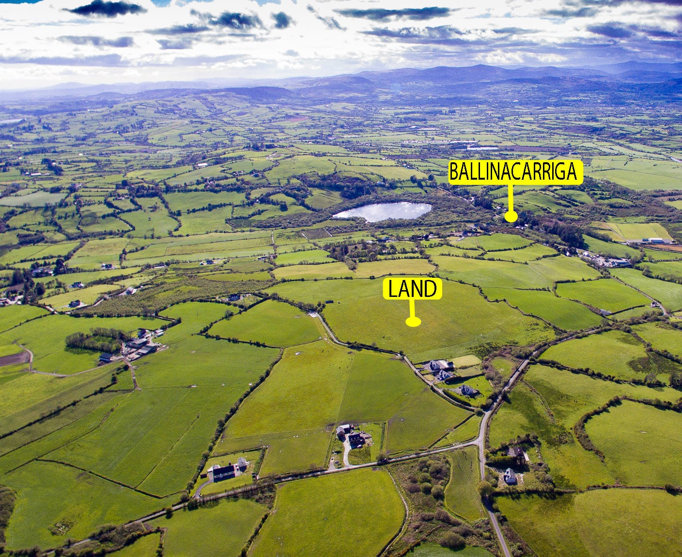 DJI_0007 Location Marked LAND AND BALLINACARRIGA CROPPED