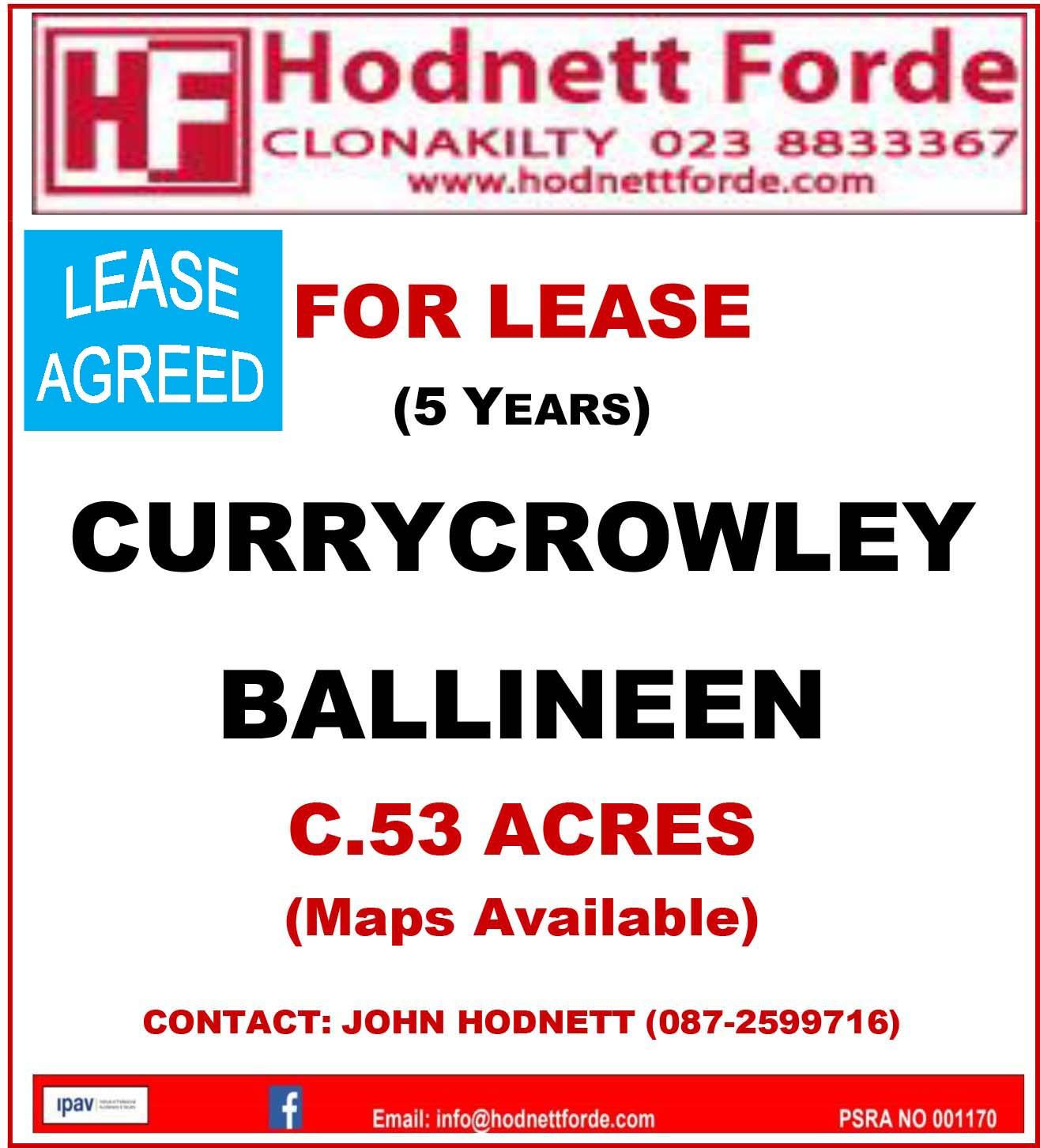 2. Currycrowley, Ballineen