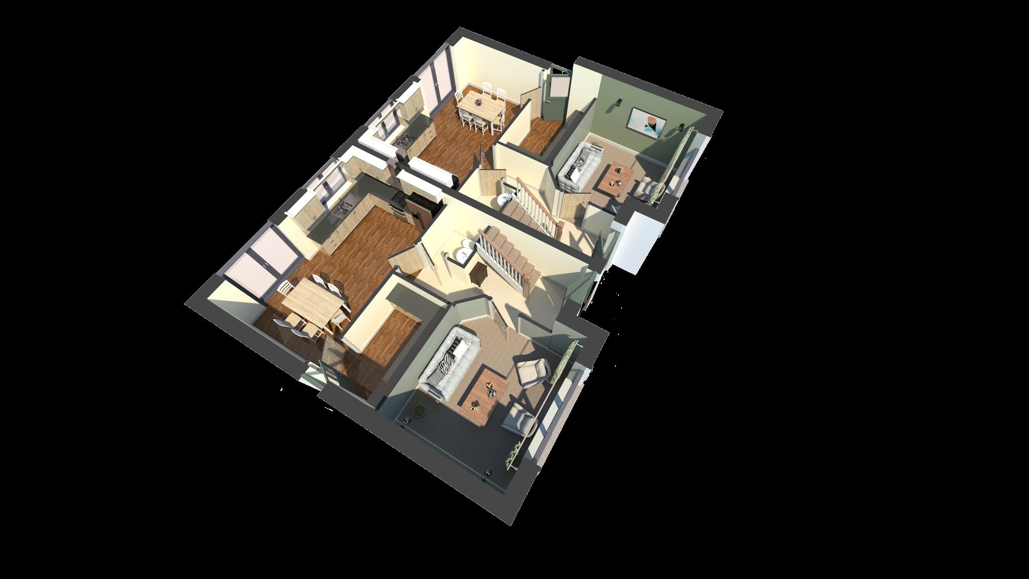 House Type C GF Plan View Altered-Scene 2 v3