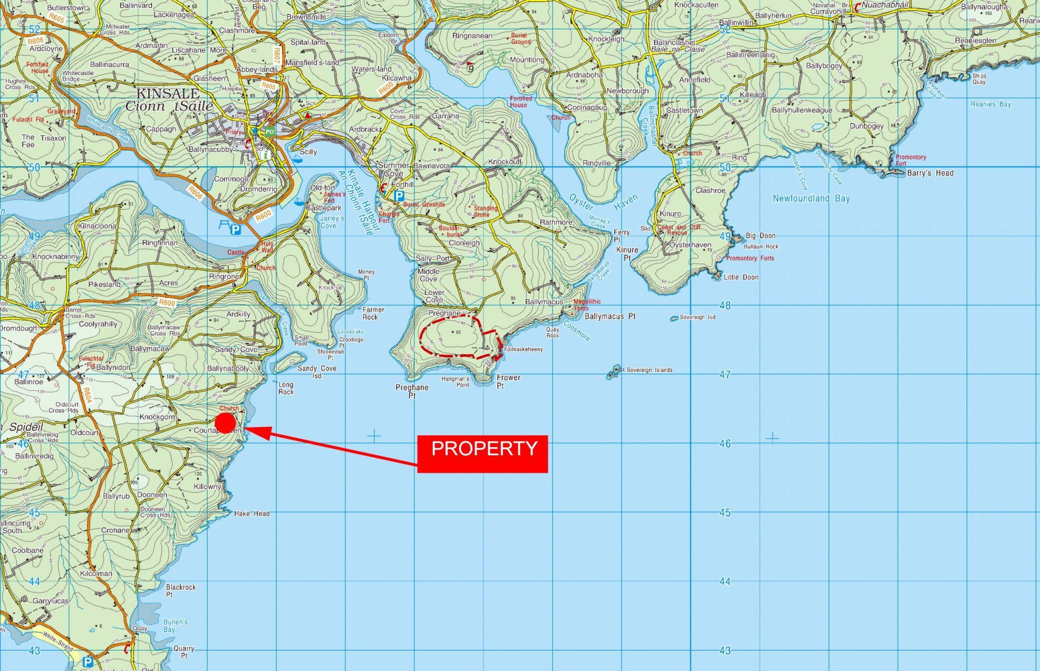 OS1604 LOCATION MAP